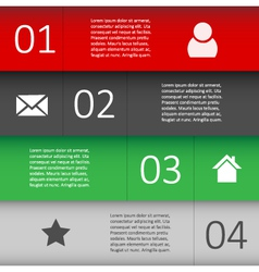 Modern Design template for Infographic website vector image