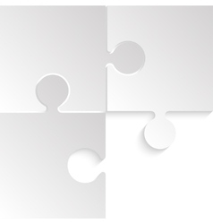 3 puzzles grey pieces jigsaw background vector