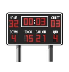 American football scoreboard vector image vector image