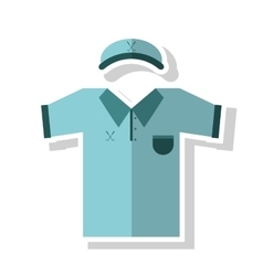 Cap and tshirt of golf sport design vector image vector image