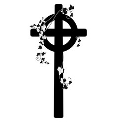 crucifix and ivy vector image vector image