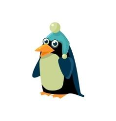 Penguin Wearing Winter Hat vector image vector image