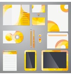 Brand identity mockup template vector