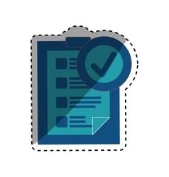 Checklist form symbol vector image