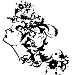 Fantasy woman face second variant vector image vector image