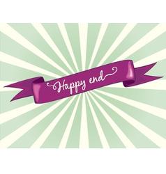 happy end vector image vector image