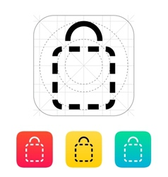 Shopping bag absent icon vector image
