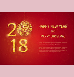 2018 happy new year background vector image vector image