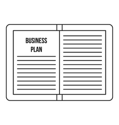 Business plan icon outline style vector image vector image