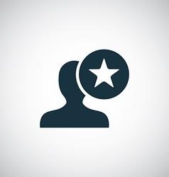 star profile icon vector image