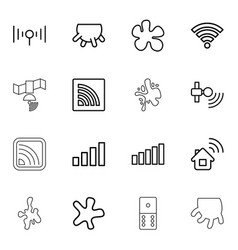 16 spot icons vector image