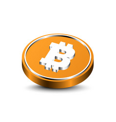 3d bitcoin isolated vector image