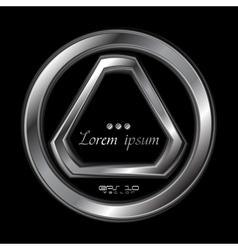 Abstract metallic shape logo vector image