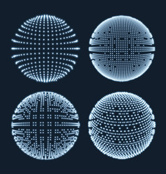 Abstract sphere consisting points vector