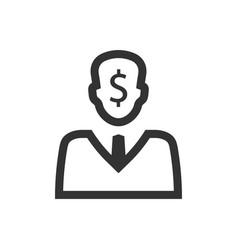 Accountant paymaster icon vector
