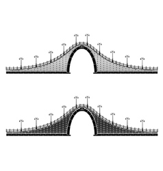 an ancient stone arch bridge vector image