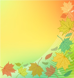 Autumn Background with fallen leaves and blank spa vector