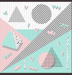 Background geometric shapes memphis vector