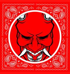Bandana skull demon vector