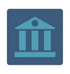 Bank flat cyan and blue colors rounded button vector