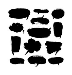 black paint speech bubbles vector image