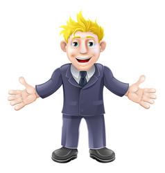 blonde businessman cartoon vector image