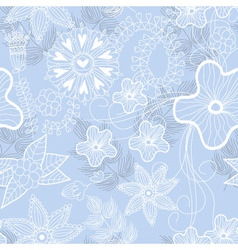 blue flower background vector image vector image