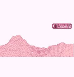 bordeaux mountain landscape on a pink background vector image vector image