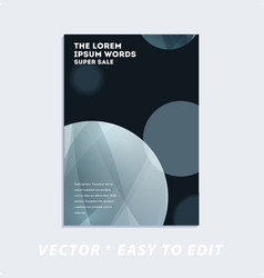 brochure with black abstract design cover party vector image