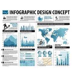 Business infographics web design for workflow vector