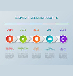 business timeline infographic in paper vector image