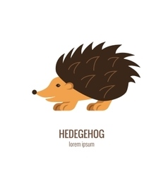Colorfu cartoon hedgehog logo vector