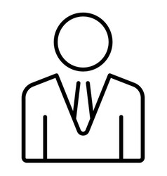 Company boss icon outline style vector