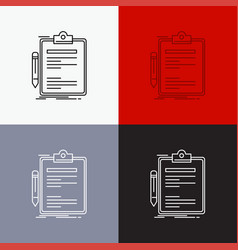 contract check business done clip board icon over vector image