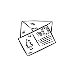 cute letters doodles vector image