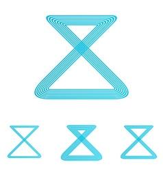 Cyan line loop logo design set vector