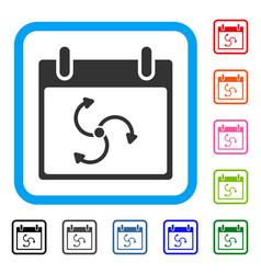Cyclone calendar day framed icon vector