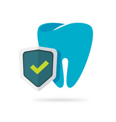 dental health protection icon flat cartoon vector image