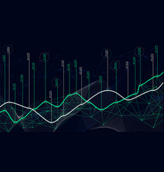 digital analytics concept data visualization vector image