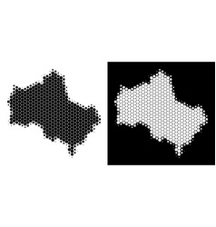 Dotted halftone moscow oblast map vector