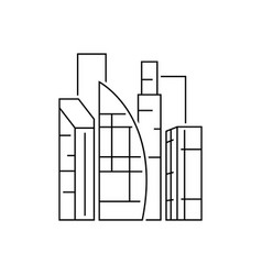 dudai city view outline on white vector image