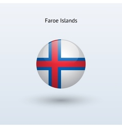 Faroe Islands round flag vector
