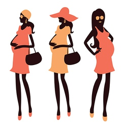 Fashionable pregnancy and maternity clipart vector