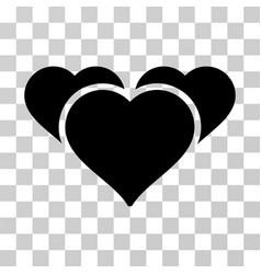 Favourite hearts icon vector