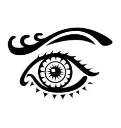 female eye logo on white background vector image