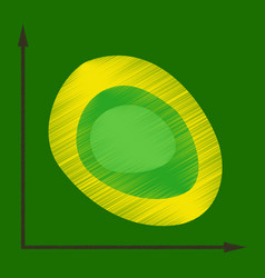 Flat shading style icon graph vector