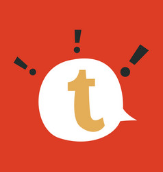 flat tumblr social media icons vector image