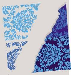 Floral wallpaper element vector