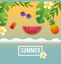 Funny vacation in the tropical summer season vector