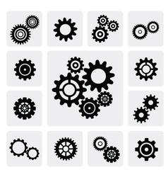 Gearwheel mechanism icon vector